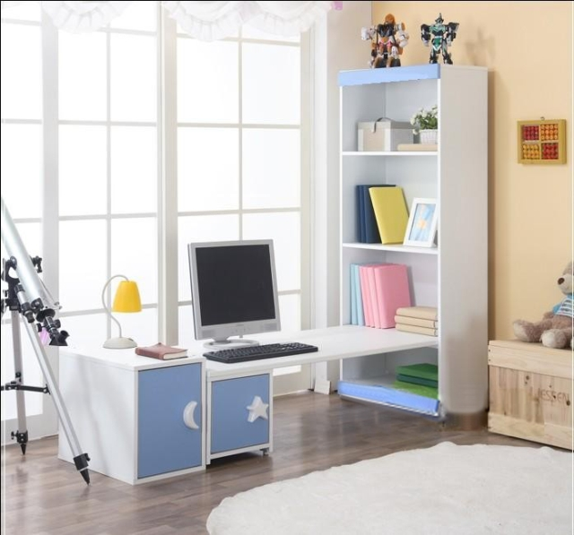 Pink Computer Desk Bookcase Combination Children S Table Study Table Teen Table Rotate Table Desk Lampdesk Table Aliexpress