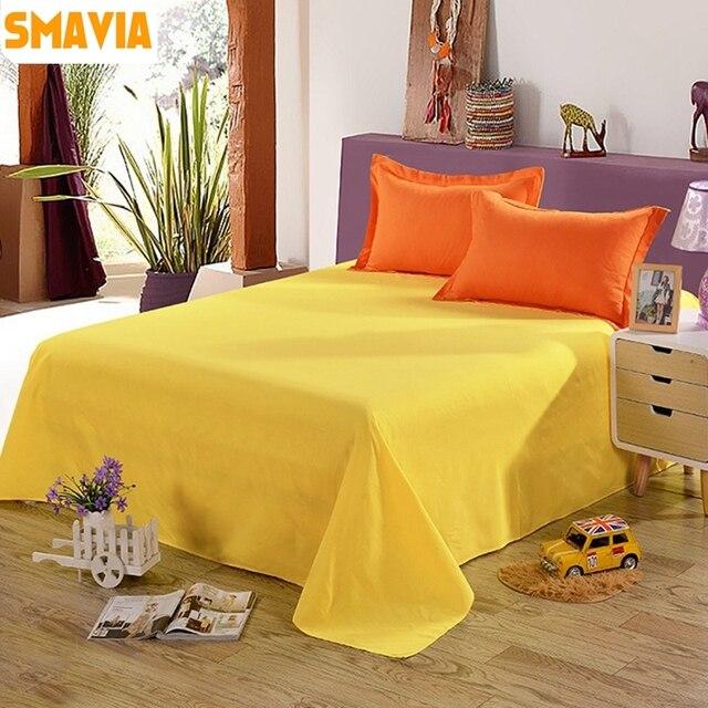 Smavia Simple Pur Couleur Solide Couleur Literie Decor 100