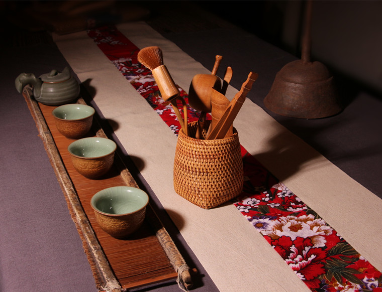 6 pièces/ensemble à la main en rotin de haute qualité chinois Kongfu thé cérémonie ustensiles ensemble bambou thé accessoires outils - 6