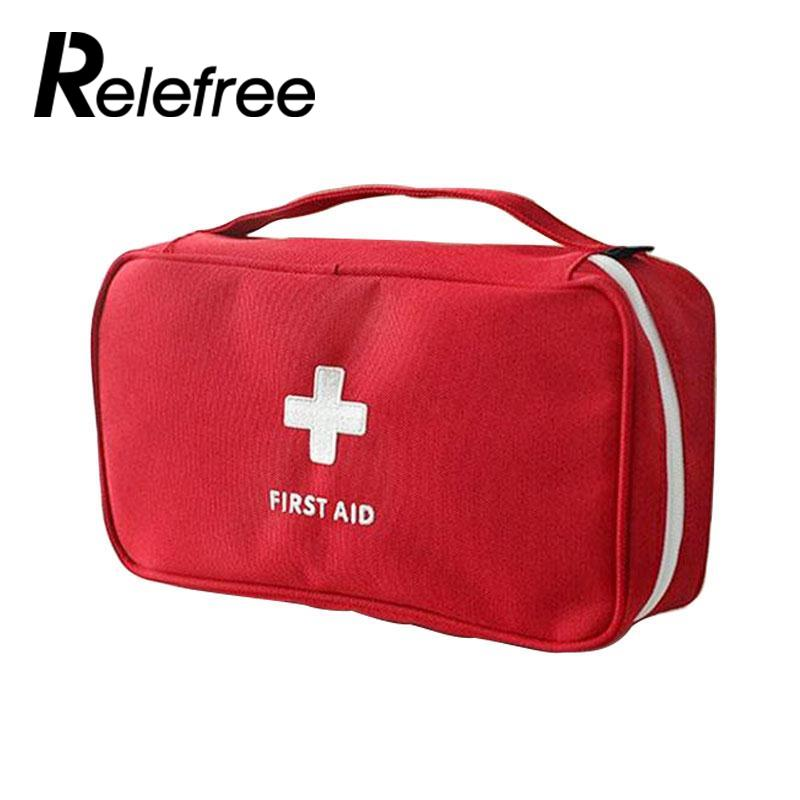 Portable Empty First Aid Kit Pouch Home Office Medical Emergency Travel Rescue Case Bag
