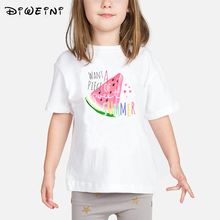 New Children's Print T shirt Brand Summer Fruit Watermelon Top Girls Boys Kids Tops Short Sleeve Baby Girls Boys Tshirt Cute Tee
