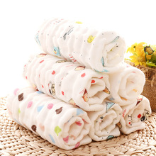 30*30  100% gauze cotton baby handkerchief square towel muslin cotton infant face towel wipe cloth Appease Towel