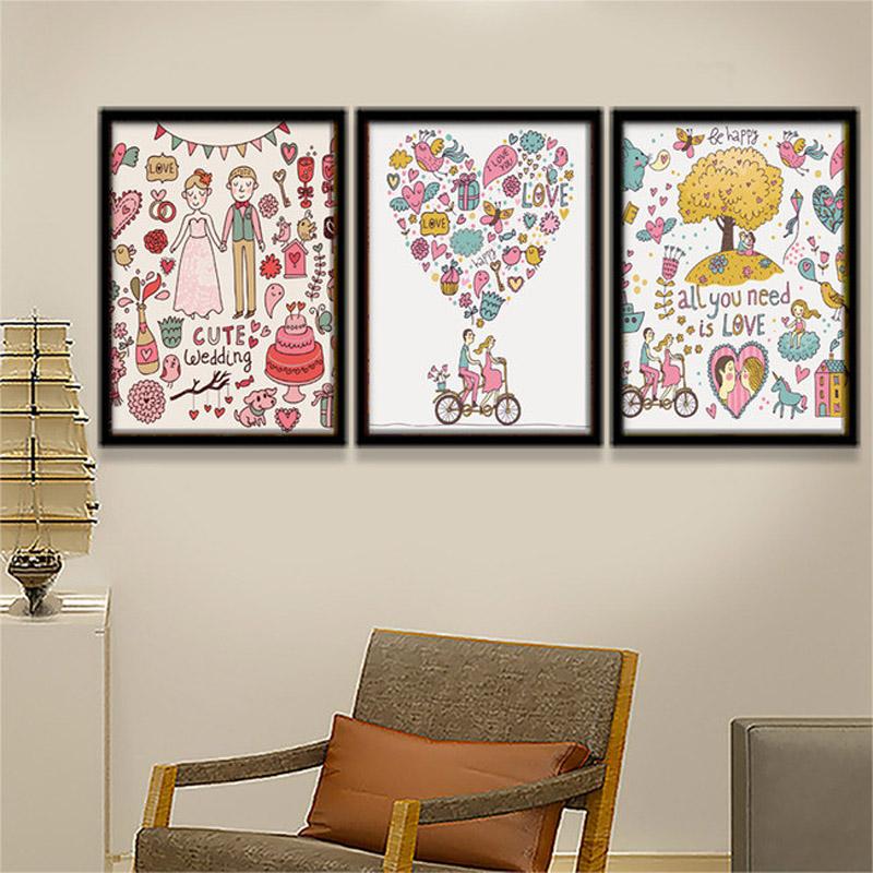 Coeur Photo Mur #8: Pulvérisation Peinture Romantique Amour En Forme De Coeur Motif Mur Photos  De Mariage De Coupe Pour