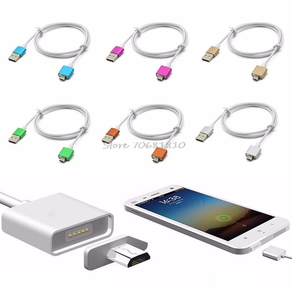 Micro USB Magnetic Charging Data Cable Adapter Charger Cord For Android Phone  Drop shipping
