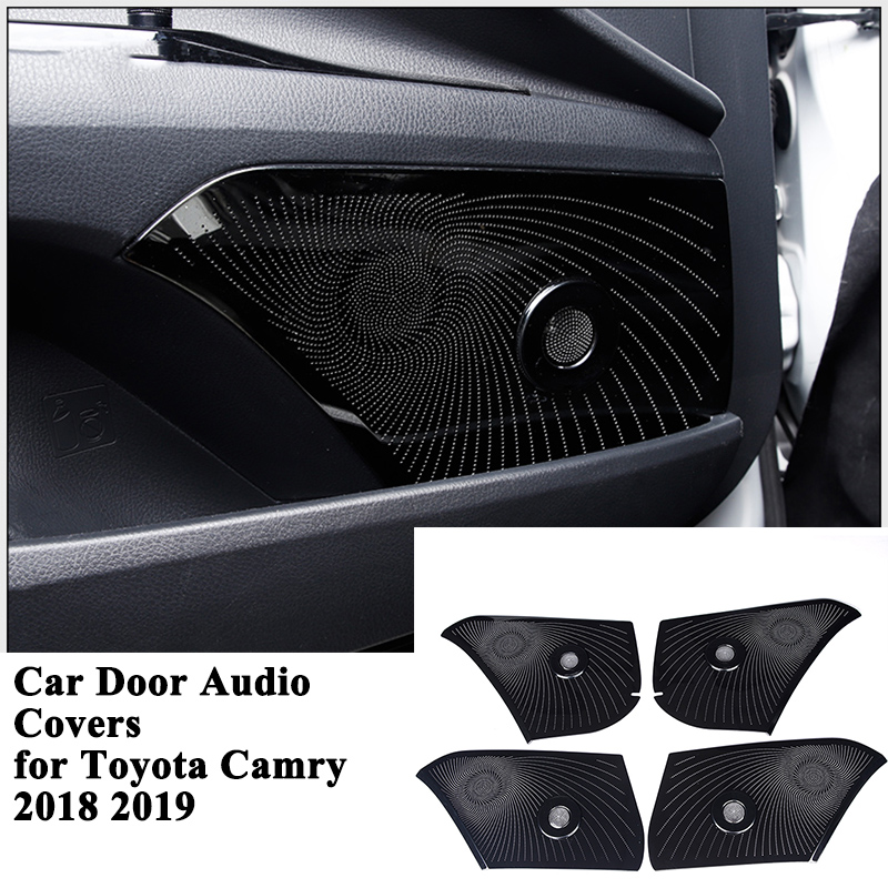 4pcs set SEEYULE Car Door Audio Panel Decoration Cover Audio Trim Frame Sticker Styling Accessories for