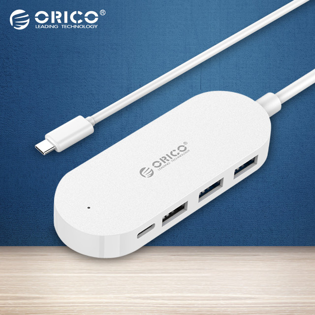 HC1 ORICO 4 Portas USB3.0 2.0-Tipo C Hub (30 cm Cabo de Dados) 30 cm cabo de dados para apple macbook extensão hub