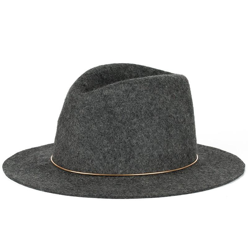 0e102086a9eb52 Seioum Special Felt Hat Men Fedora Hats with Belt Women Vintage Trilby Caps  Wool Fedora Warm ...