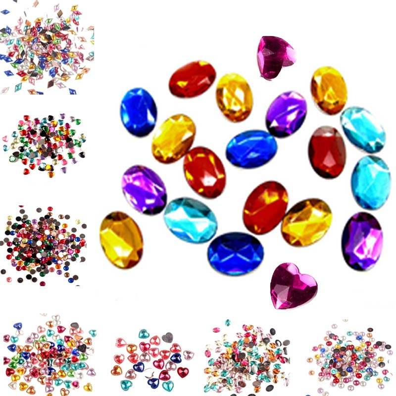 LF Acrylic Gems Strass Hotfix Rhinestones Gliter AB Crystals For Dress Decor Applique Flatback Adhesive On Clothes