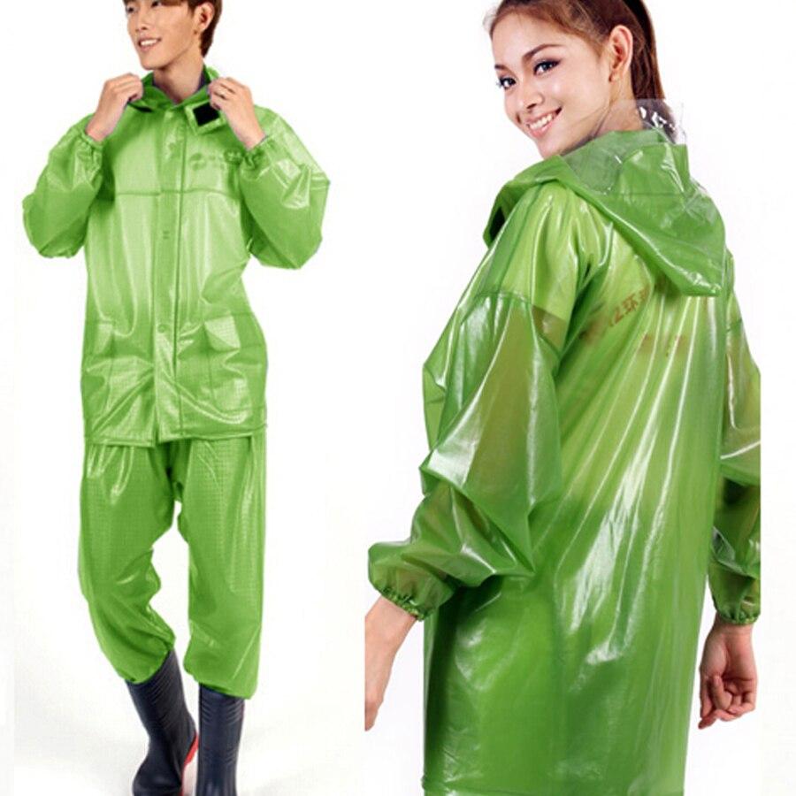 Femmes Manteau de Pluie Coupe-Vent Imperméable Cape Clear Transparent Hommes Imperméable Femmes De Pêche Salopette Chaqueta Mujer Vêtements de Pluie 60A0121