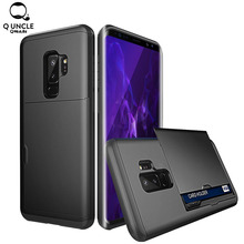 For Samsung Galaxy S10e S9 S8 S10 Plus Hybrid Tough Slide Wallet Card Storage Armor Case Note 9 8 5 4 Coque S6 S7 edge Shell