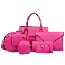 Women purses and handbags Women Bag six-piece set new fashion famous brand bags women handbag value hot Ladies messenger bags