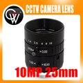 10MP 25mm HD Cámara Industrial fijo manual IRIS Focus zoom lente C montaje CCTV lente para cámara de CCTV o microscopio industrial