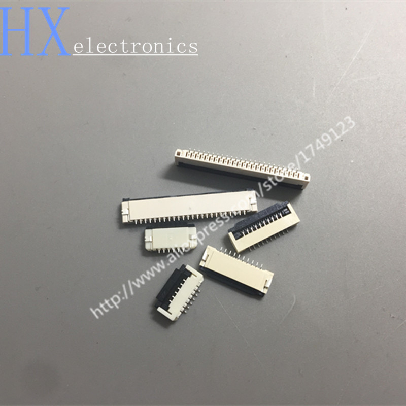 Free Shipping 10PCS FPC Pitch 1.0MM Flip Down FPC Connector 4 -30P Cable Holder