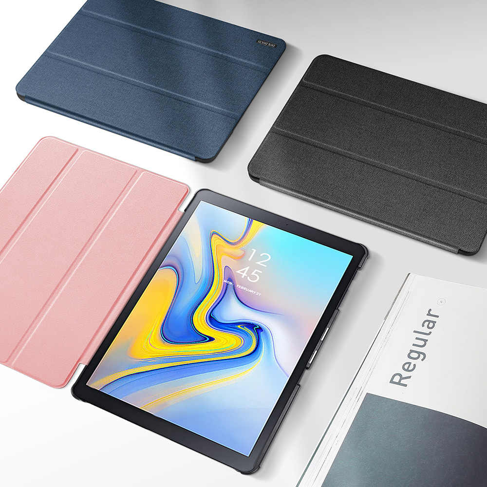 DUX DUCIS PU Leather Case for Samsung Galaxy TAB A2 10.5 Folio Smart Cover for Samsung TAB A2 10.5 inch / A 2018 10.5 T590 T595