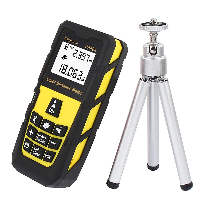 40M/131FT Digital Laser Distance Meter Range Finder Measure Tape Tool With Tripod Diastimeter Building Measure Handheld цена