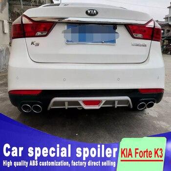 2016 2107 2018 For high quality ABS Forte K3 Rear spoiler torso protection module Forte K3 Body kit bumper rear lip rear spoiler