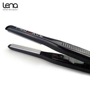 Image 4 - Lena LN 328 220 V Professionele Crimper Keramische Gegolfd Krultang Krultang Haar Styler Elektrische Corrugation Wave Haar