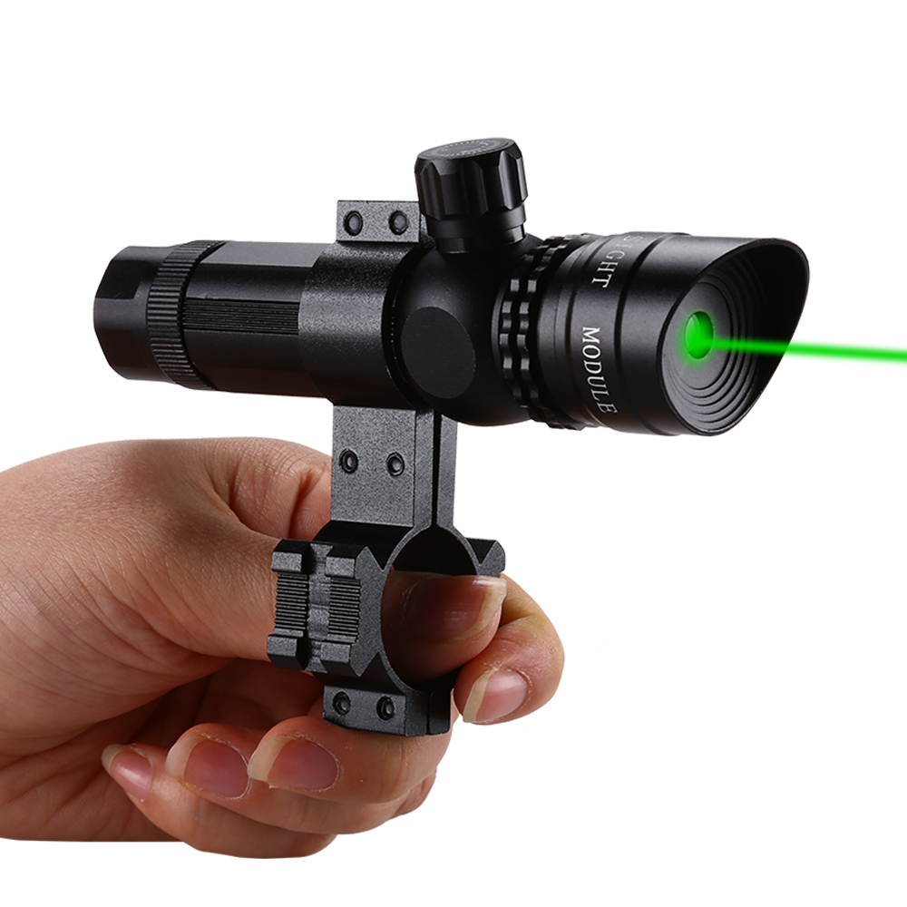Lasers Tactical Optics Waterproof Bullet Green Dot Laser W/Barrel 20mm Rail Mount Chasse Green Dot Laser Sight Scopes-in Riflescopes from Sports & Entertainment