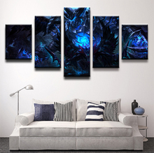 Wall Art Painting Canvas Printed 5 Panel Dark DOTA 2 Sword Terrorblade Warrior Game Poster Artwork Pictures Home Decor Boys Room