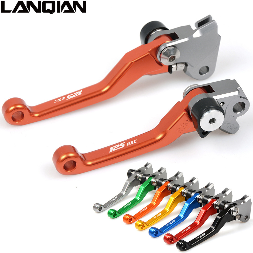 CNC For KTM 125 EXC SIX DAYS 2009 2010 2011 2012 2013 Motorcycle Brake Clutch Levers Orange Dirt bike Pivot Lever 125EXC 09-13