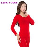 TANG TRẺ Thời Trang Mùa Đông Nhiệt Bộ Đồ Lót Phụ Nữ Phương Thức Liền Mạch Ấm Dài Johns Ladies Slim In đáy Phụ Nữ Undies