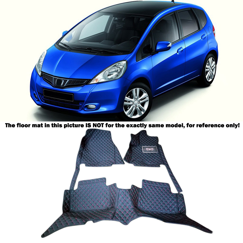 Car Accessories Floor Mats Carpets Cover Foot Pads For Honda FIT JAZZ 2009 2010 2011 2012 2013 auto floor mats for honda cr v crv 2007 2011 foot carpets step mat high quality brand new embroidery leather mats