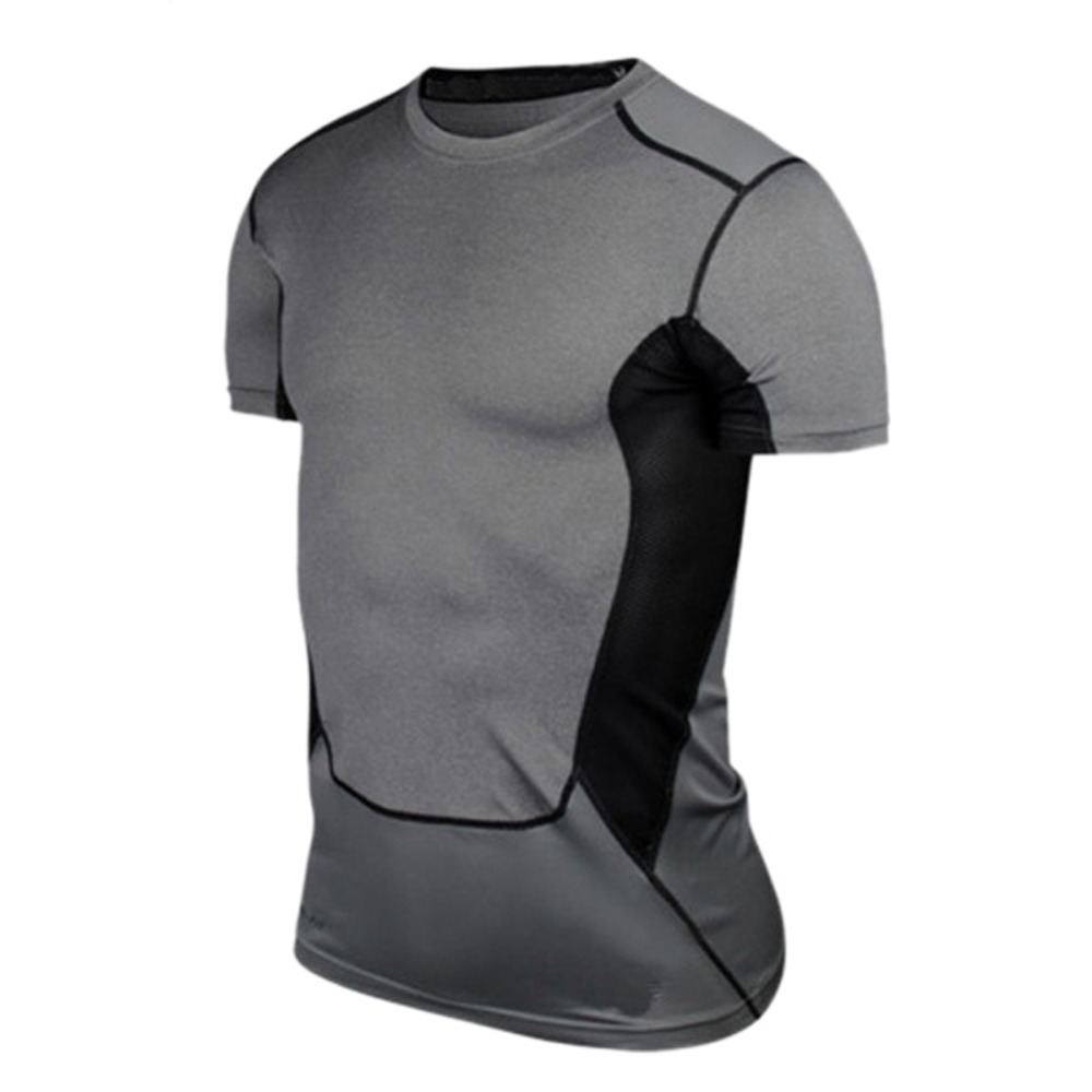 Men Compression Under Base Layer Top Tight Short Sleeve T Shirt Sport Collection S XXL       - title=