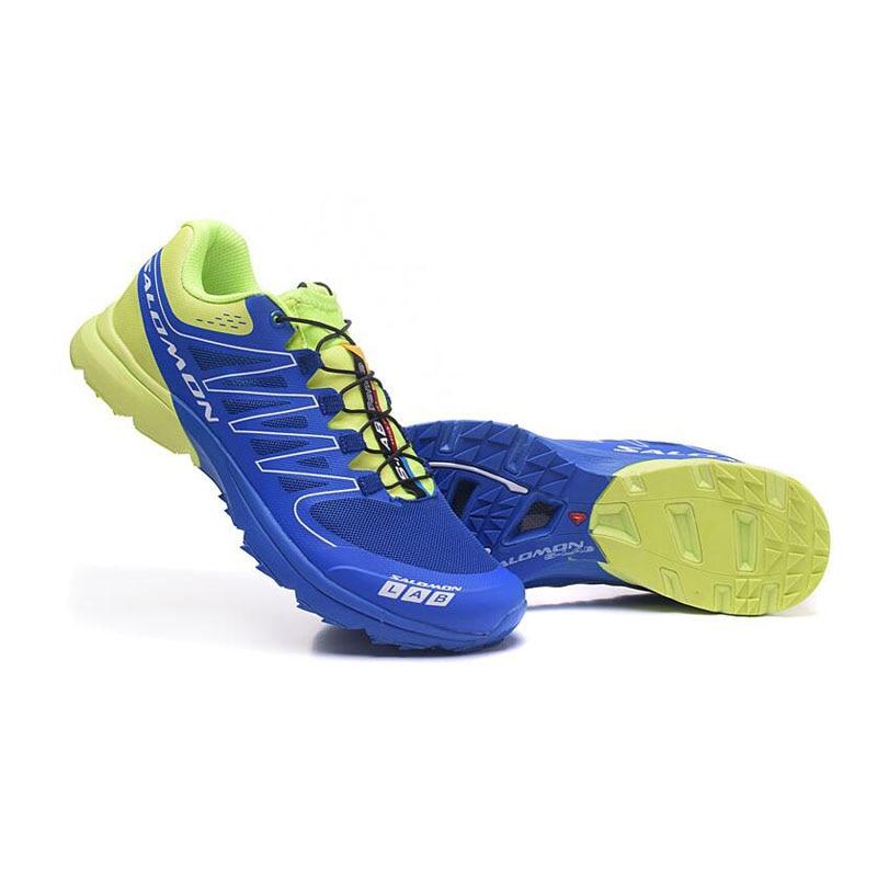 New red Salomon S-LAB SENSE M Men's Shoes Outdoor Jogging Sneakers Lace Up Athletic Shoes running Shoes Men's Shoes size 40-46 trendy colour matching and lace up design women s athletic shoes