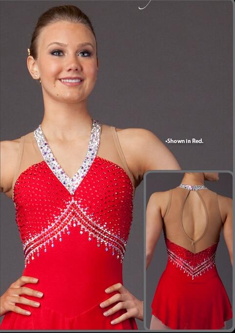 фигурно пързаляне дрехи жени - Спортно облекло и аксесоари - Снимка 3