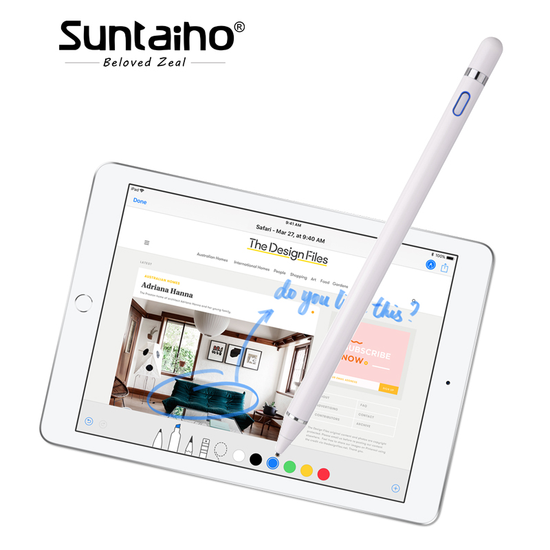 Para a apple Lápis, Suntaiho nova stylus capacitância toque Lápis para apple ipad com Embalagem de varejo