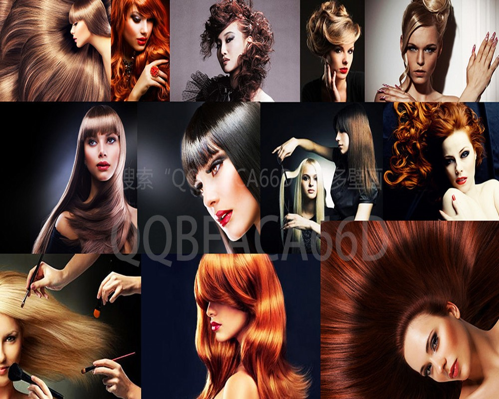 Free Shipping Beauty Salon Hair Salon Salon Wallpaper Fashion European Style Beauty Hair Style Hair Barber Shop Custom 3D Mural