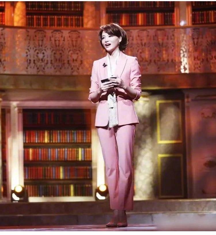 Mode Petit Élégant Costume Dong Ensembles Rose Qing Robe Femmes A Couleur Printemps Lecteur Style Le Même De Deux nZZgc71O