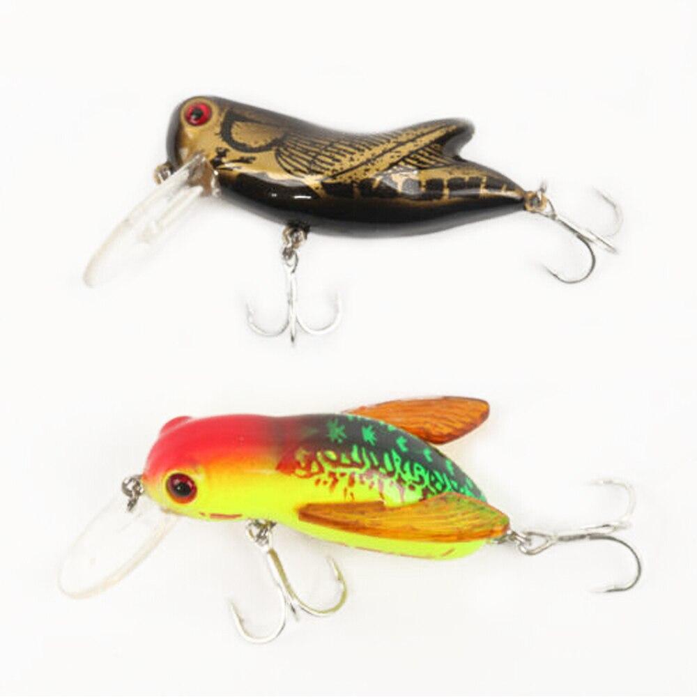 Eupheng 2pcs top water fishing lure locust lure bait swimbait 1 46in and 1 81in