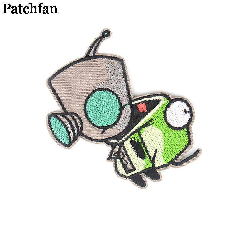 Patchfan Alien applique patches diy eisen auf para schuh jeans tasche hemd kleidung jersey punk aufkleber embroideried abzeichen A2230