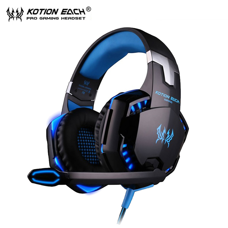 KOTION EACH G2000 Gaming headset pc Gamer Headphones luminous auriculares Headphone with Microphone fone de ouvido