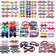 20PCS/Lot Halloween Pet Porducts  Cute Dog Cat Bow Ties Adjustable Bowties Grooming Accessories Collar Supplies