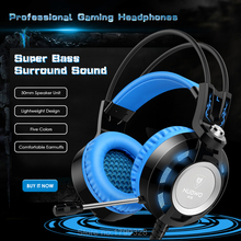 K6 Nubwo gaming headset de auriculares con micrófono de 3.5mm estéreo auriculares juego auricular brillante Luz LED USB para PC de la Computadora