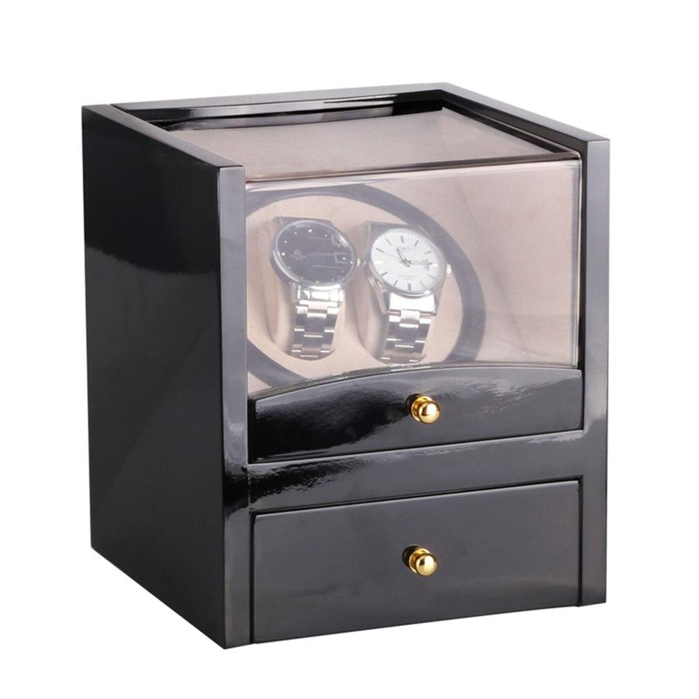 Nouveau US/EU/AU/UK Plug automatique mécanique noir montre remontoir haute classe moteur Shaker support de montre affichage bijoux montre boîte