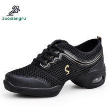 цены на New Ladies Dance Shoes Jazz Hip Hop Latin Salsa Modern Sneakers For Woman Platform Dancing  Shoes Soft Sole Adult Sports Shoes  в интернет-магазинах