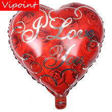 VIPOINT PARTY 18inch Love Heart White Foil Balloons 10 Pieces Wedding Event Christmas Halloween Festival Birthday Party HY-304