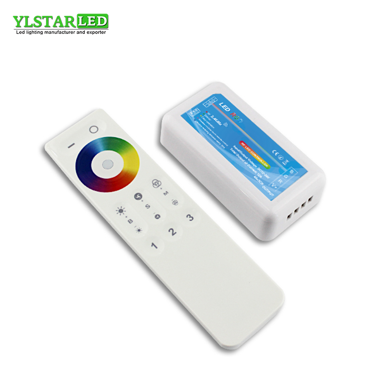 2018 New YLSTAR <font><b>12V</b></font> 24V 2.4G <font><b>RF</b></font> Wireless 3 Zone Touch remote RGB Adjustable dimming Controller <font><b>Dimmer</b></font> for RGB <font><b>LED</b></font> Lamp Strip