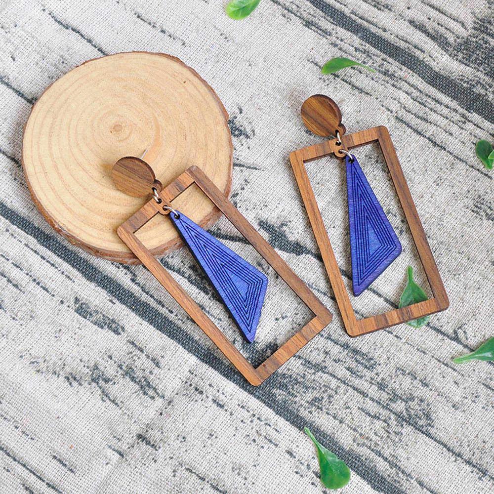 หลาย 27 สไตล์เกาหลี Handmade ไม้ฟางสานหวาย Braid Drop ต่างหูแฟชั่นเรขาคณิตต่างหู brincos