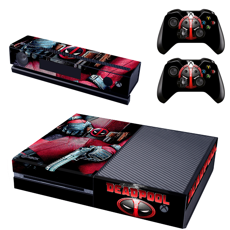 Deadpool Xbox One S 5 Sticker Console Decal Xbox One Controller Vinyl Skin Video Games & Consoles