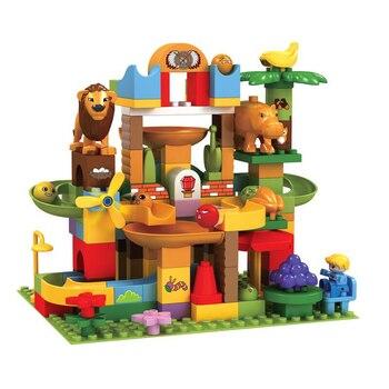 109PCS Children Marble Race Run Maze Ball Track Funnel Slide Building Blocks Toy Assemble Blocks Compatible Legoingly Duploe