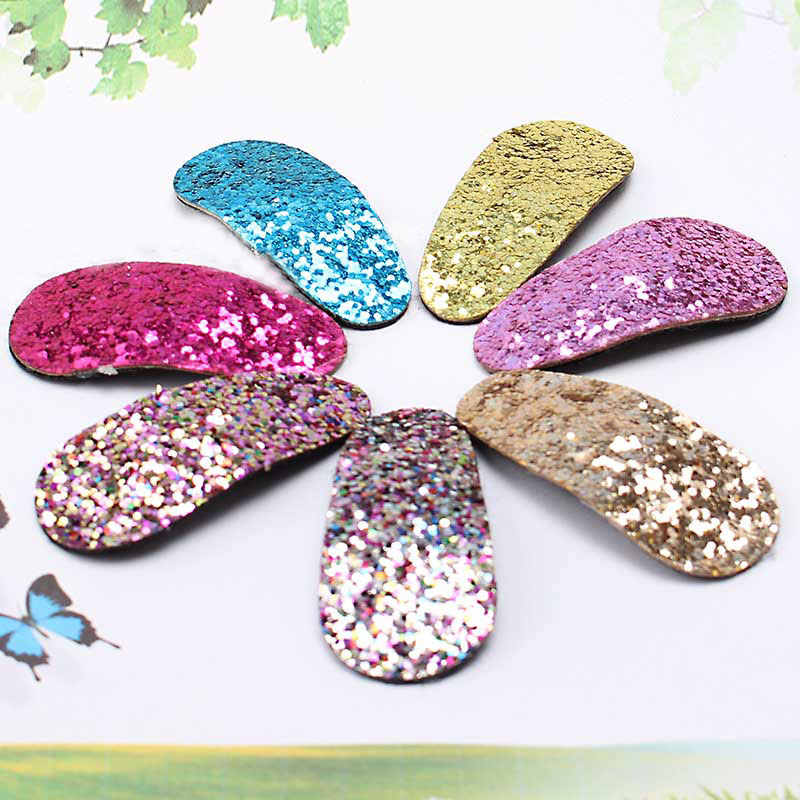 1 PC Cute Children Girls Hairpins Shiny Barrettes Headwear Hair clips Colorful Glitter Headdress ornaments Hair Accessories