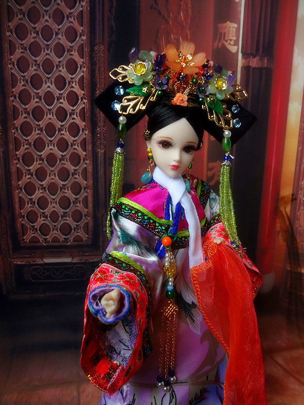 32cm Handmade Collectible Chinese Dolls Vintage Qing Dynasty Princess Dolls Consort Donggo Series Girl Toys Gifts32cm Handmade Collectible Chinese Dolls Vintage Qing Dynasty Princess Dolls Consort Donggo Series Girl Toys Gifts