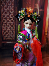 32cm Handmade Collectible Chinese Dolls Vintage Qing Dynasty Princess Dolls Consort Donggo Series Girl Toys Gifts 32cm traditional chinese queen dolls pretty girl bjd dolls movies