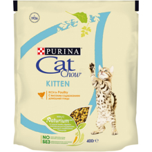 Сухой корм Cat Chow для котят с домашней птицей, Пакет, 400 г