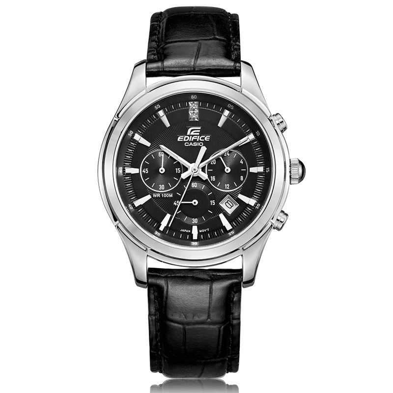 e5ecc8ea3e3 Casio simple fashion men s watch 50 meters waterproof quartz men s watch  black plate black belt EFR