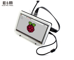 E & m 7 Polegada 1024*600 tela de toque capacitivo ips display lcd monitor módulo hmdi portátil raspberry pi 3 b windows 10 linux